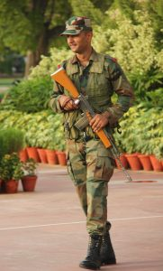 Indian Soldier with INSAS Rifle
